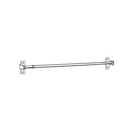 "7/16"" round sash curtain rod adjustable 18"" to 28"", by Kirsch"