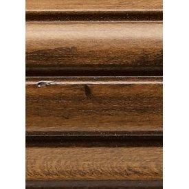 3 inch diameter fluted wood curtain rod, 6 feet long, by Kirsch