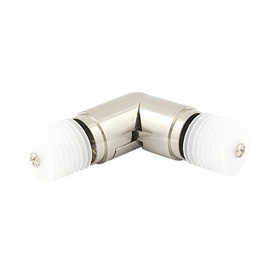 Corner elbow for 1 1/8 inch metal contemporary curtain rod