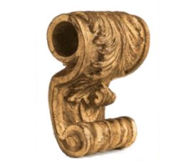 Wide acanthus drapery sconce, by Kirsch--Discontinued