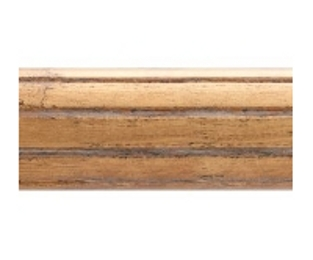 "2"" fluted wood drapery pole 6', by Kirsch"