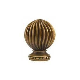 Mediterrianean finial for 2 1/4 inch wood curtain rods