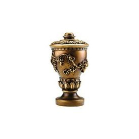 Tuscan finial for 2 1/4 inch wood curtain rods