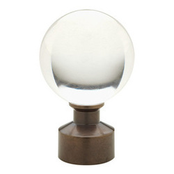 "Brass Acrylic Ball finial for 3/4"" Select Metal pole"