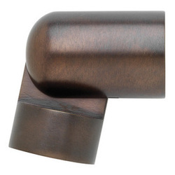 "Brass Hinged elbow for 1 3/16"" diameter Select Metal pole"