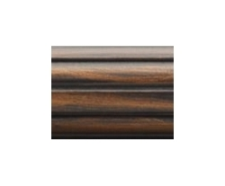 2 inch fluted decorative wood curtain rod 4 feet, by Kirsch